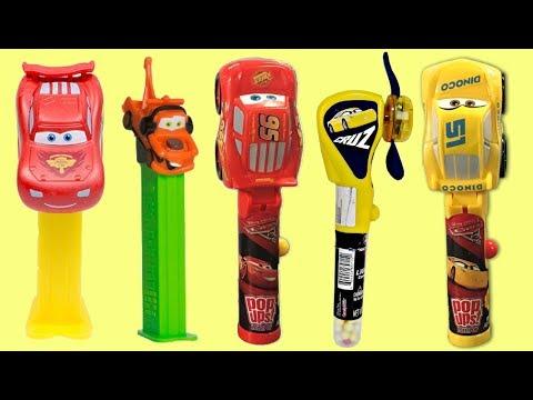 CARS 3 Cruz Lighting Mcqueen Mater Pez Candy Dispensers, Jelly Belly, Lolli Pop Ups Mashems / TUYC