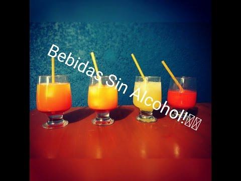 4 Bebidas sin alcohol - Faciles y Baratas