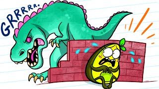 T-Rex Dinosaurs vs Vegetables