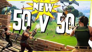 BRAND NEW MODE! INSANE 50 VS 50 ALL OUT WAR! - FortNite Battle Royale Ep.43