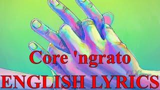 Core 'ngrato with lyrics - Ungrateful Heart - José Carreras