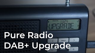 Update a Pure radio to receive DAB+ stations