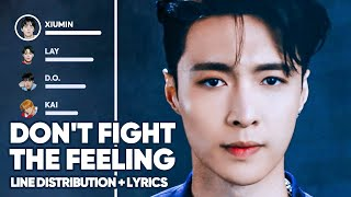 EXO - Don't fight the feeling (Line Distribution + Lyrics Color Coded) PATREON REQUESTED