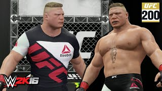 WWE 2K16 Creations: Brock Lesnar UFC 200 Attire! (PS4)