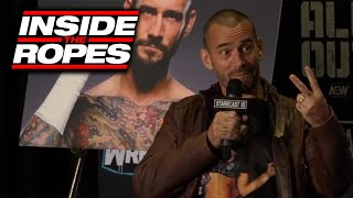 CM Punk On The Rock Calling Him LIVE From The Ring At RAW In LA