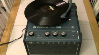 Califone Portable Record Player Model 1450C -- All By Myself -- Fats Domino