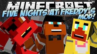 Minecraft | FIVE NIGHTS AT FREDDY'S (FNAF) MOD! (Scary Animatronics!) | Mod Showcase