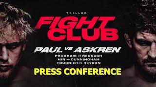 Jake Paul & Ben Askren OFFICIAL PRESS CONFERENCE & FACE-OFF