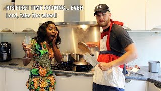 HUSBAND'S FIRST TIME COOKING A TYPICAL DUTCH MEAL (HUTSPOT) FOR HIS NIGERIAN WIFE - Video Youtube
