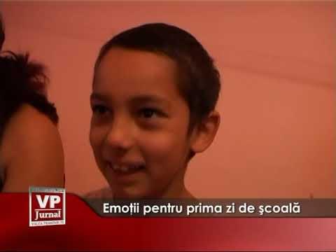 Emoţii pentru prima zi de şcoală