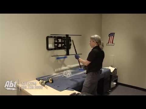 How To: Wall Mount A TV Using A Pivot Arm Mount (Sanus VLF320) (OLED, Plasma, LED, LCD)