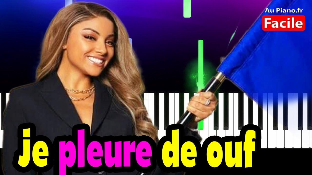 Wejdene Je Pleure De Ouf Piano Cover Tutorial Lyrics (Au Piano.Fr)