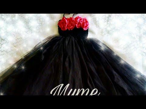 Como hacer un Tutu Dress de catrina/ disfraz de catrina para niña