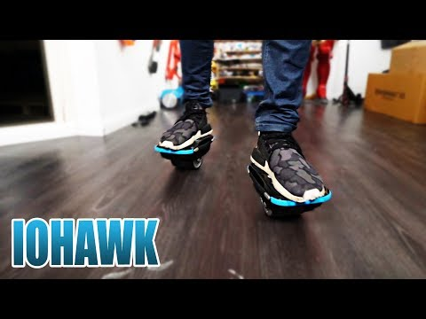 DIE NEUEN HOVERBOARD SCHUHE | IOHAWK NXT SKATES SHOES Review - Unboxing [Deutsch/German]