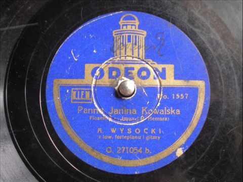 Panna Janina Kowalska (piosenka) - Adam Wysocki