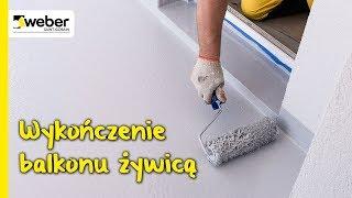 Jak wykończyć balkon żywicą poliuretanową? System weber.dry balkon krok po kroku.