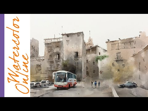 Thursday Speed Up Demos: Spain Without Light (Watercolor Cityscape)