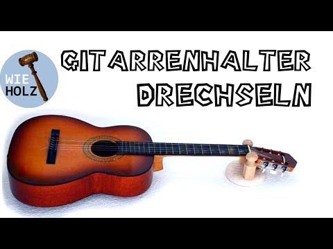 Einen Gitarrenhalter selber drechseln - Turn a guitar holder