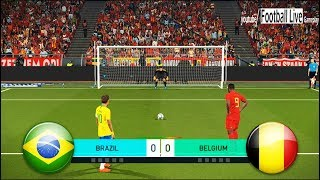 PES 2018 | BRAZIL vs BELGIUM | Full Match & Penalty Shootout | NEYMAR vs HAZARD | Gameplay PC