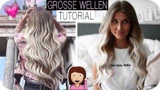 GROSSE LOCKEN / WELLEN HAIR-TUTORIAL - So klappt es mit dem LOCKENSTAB | AnaJohnson