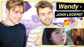 "Reacting to Wendy x John Legend!! ""Written in the Stars"""