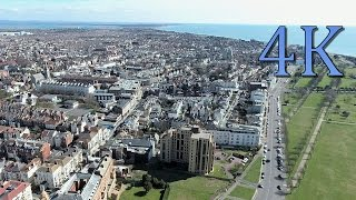 Beautiful Solent - Aerial View in 4K UHD of Southsea, Portsmouth Hampshire.