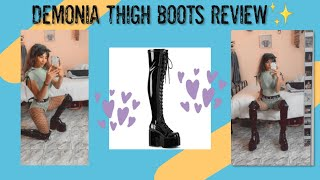 Unboxing Demonia Thigh High Lace Up Boots  💭