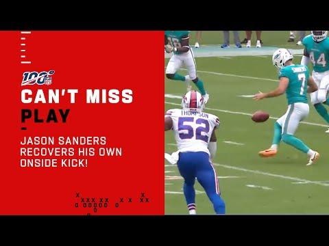 Jason Sanders Recovers His Own Onside Kick!