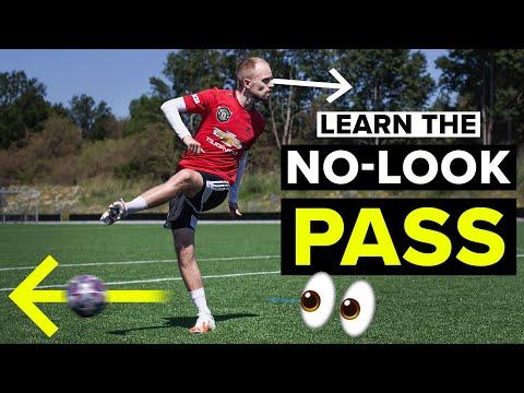NO-LOOK PASS TUTORIAL | Learn football skills
