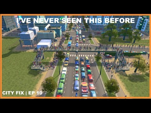 Traffics So Bad (19%), They All Rather Walk | CITY FIX | Cities Skylines