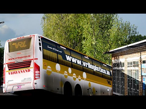 🔴 ETS 2 - Bus Driving Indian Skin Mods [KPN Travels Volvo