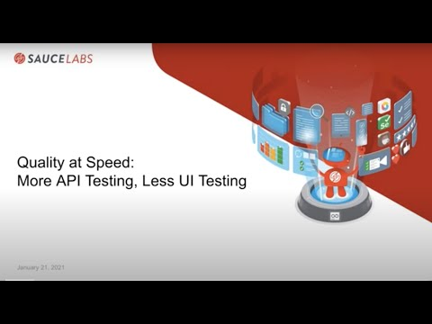 Quality at Speed: More API Testing, Less UI Testing Related YouTube Video