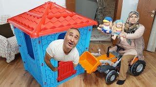 Ayşeye BÜYÜK Oyun Evi ALDIK Çok Sevindi OYUNCAK Dev EV, Ayşe BIG Play House We received Very happy