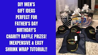 DIY MENS GIFT IDEAS~FATHERS DAY, BIRTHDAY CHARITY MENS GIFT IDEAS~DOLLAR TREE MENS GIFT IDEAS
