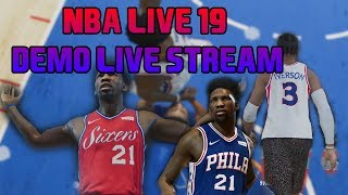 NBA LIVE 19 DEMO WALKTHROUGH! #LIVESEASON, IN THE LAB!
