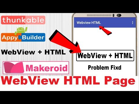 Makeroid WebView HTML Page Open Tutorial | AIA File | Thunkable