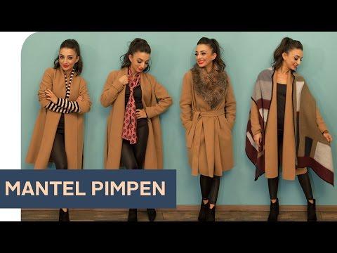 1 Teil, 8 Styles: Mantel mit Accessoires aufpimpen ~ refashion | OTTO