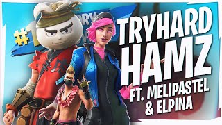 Going FULL TRYHARD! FUNNY CLUTCH GAME w/ MELIPASTEL & ELPINA