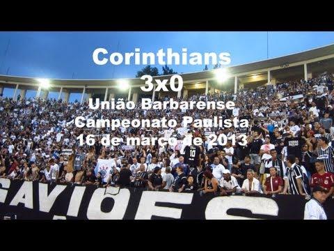 Torcida do Corinthians no pacaembu contra o união barbarense