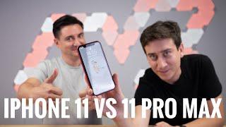 iPhone 11 vs iPhone 11 Pro Max - GEORGE vs MARIAN