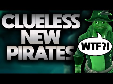NOOBS HAVE NO IDEA // SEA OF THIEVES - These noob pirates have no idea what to do!