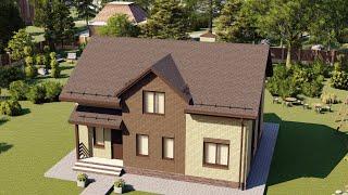 Проект дома 160-E, Площадь дома: 160 м2, Размер дома:  8,9x10,9 м