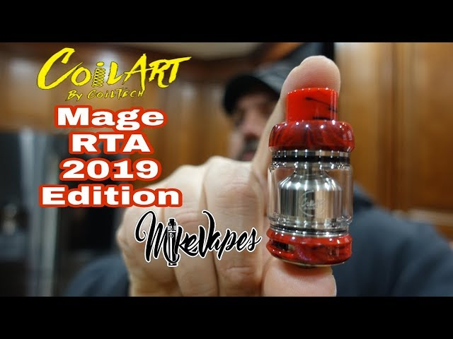 Coilart Mage RTA 2019 Edition Coil & Wicking Tutorial