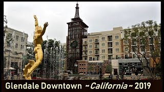 Glendale Downtown, CA, USA [Jan. 2019]: Brand, Americana, Central Library, Galleria, Artsakh ...