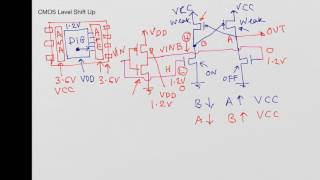 CMOS Level Shift Up Circuit