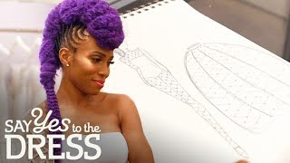 Nik West Gets A Custom Lakum Wedding Catsuit! | Say Yes To The Dress