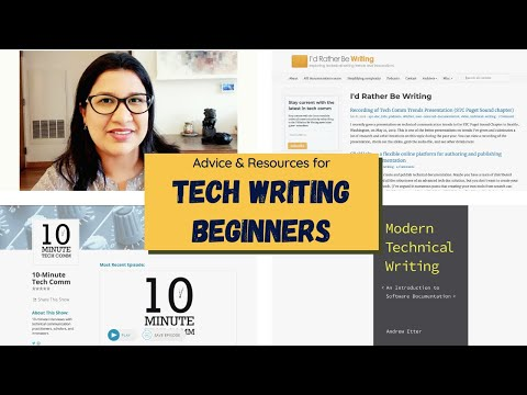 TECHNICAL WRITING BEGINNERS // Advice and Resources