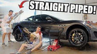 Straight Piping My Maserati Granturismo MC!!