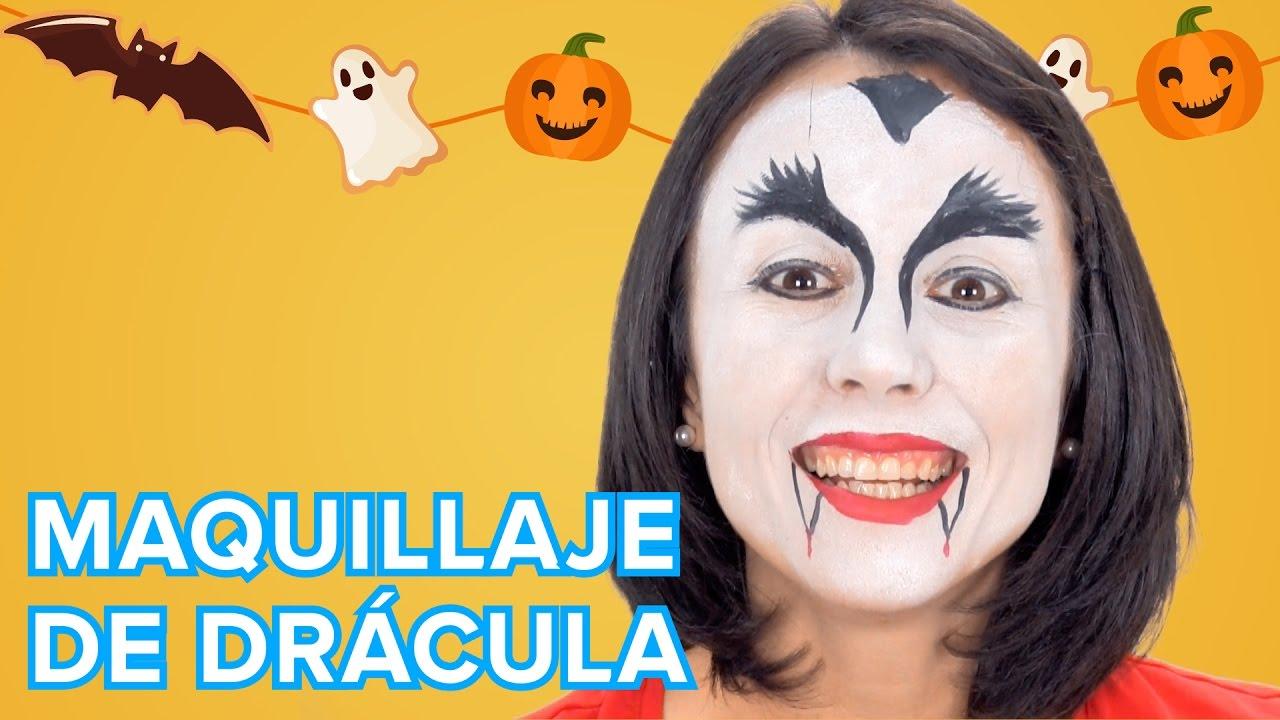 Maquillaje de Drácula o vampiro para Halloween y Carnaval