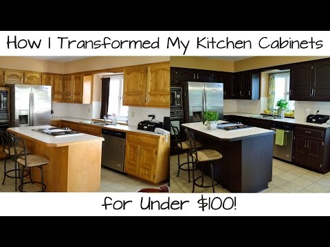 Video How I Transformed My Kitchen Cabinets for Under $100!